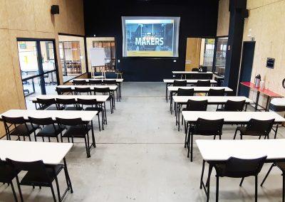 auditorio maker aldeia - sala de aula